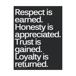 respect-is-earned-honesty-is-appreciated